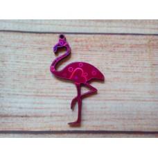 Pink Foiled MDF Flamingo 65mm